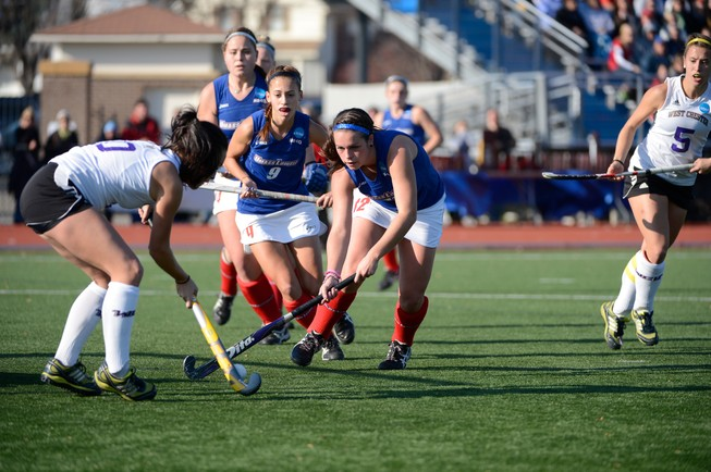 West Chester University vs University of Massachusetts - Lowell during the 2012 NCAA Women's Division II Field Hockey Championship