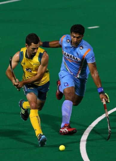 VR Raghunath scored the second goal for India (curry post)