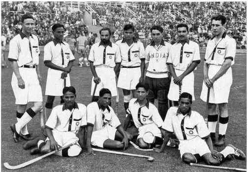 The 1936 Indian hockey team.  They beat the Germans in the final.