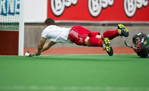 10 best field hockey pictures,  No 10 - mark gleghorne doing his best superman impression